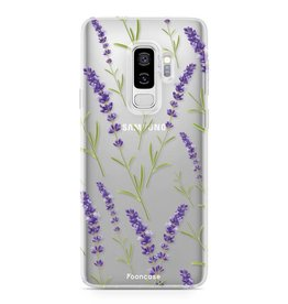 FOONCASE Samsung Galaxy S9 Plus - Purple Flower