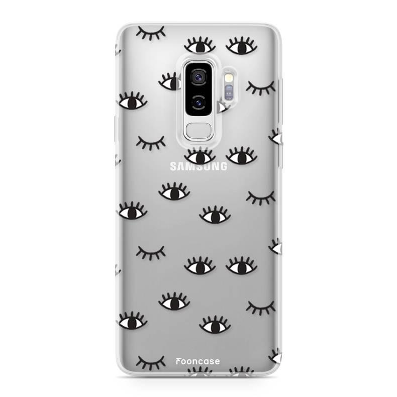 FOONCASE Samsung Galaxy S9 Plus hoesje TPU Soft Case - Back Cover - Eyes / Ogen