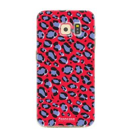 FOONCASE Samsung Galaxy S6 Edge - WILD COLLECTION / Red