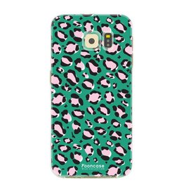 FOONCASE Samsung Galaxy S6 Edge - WILD COLLECTION / Groen