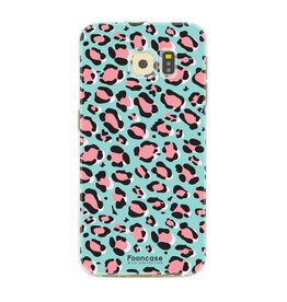 FOONCASE Samsung Galaxy S6 Edge - WILD COLLECTION / Blauw