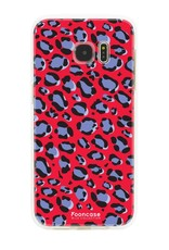 FOONCASE Samsung Galaxy S7 Edge - WILD COLLECTION / Rot
