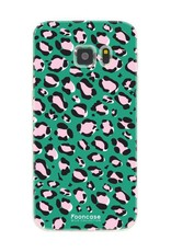 FOONCASE Samsung Galaxy S7 hoesje TPU Soft Case - Back Cover - WILD COLLECTION / Luipaard / Leopard print / Groen