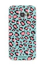 FOONCASE Samsung Galaxy S7 hoesje TPU Soft Case - Back Cover - WILD COLLECTION / Luipaard / Leopard print / Blauw