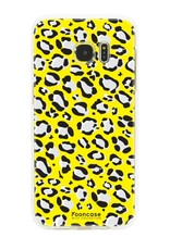 FOONCASE Samsung Galaxy S7 Edge hoesje TPU Soft Case - Back Cover - WILD COLLECTION / Luipaard / Leopard print / Geel