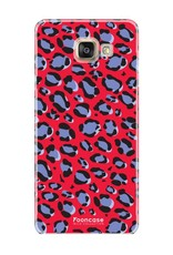 FOONCASE Samsung Galaxy A5 2017 hoesje TPU Soft Case - Back Cover - WILD COLLECTION / Luipaard / Leopard print / Rood
