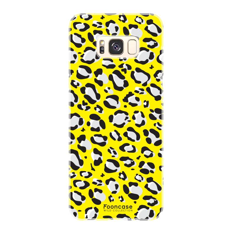 FOONCASE Samsung Galaxy S8 hoesje TPU Soft Case - Back Cover - WILD COLLECTION / Luipaard / Leopard print / Geel