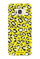 FOONCASE Samsung Galaxy S8 Plus hoesje TPU Soft Case - Back Cover - WILD COLLECTION / Luipaard / Leopard print / Geel
