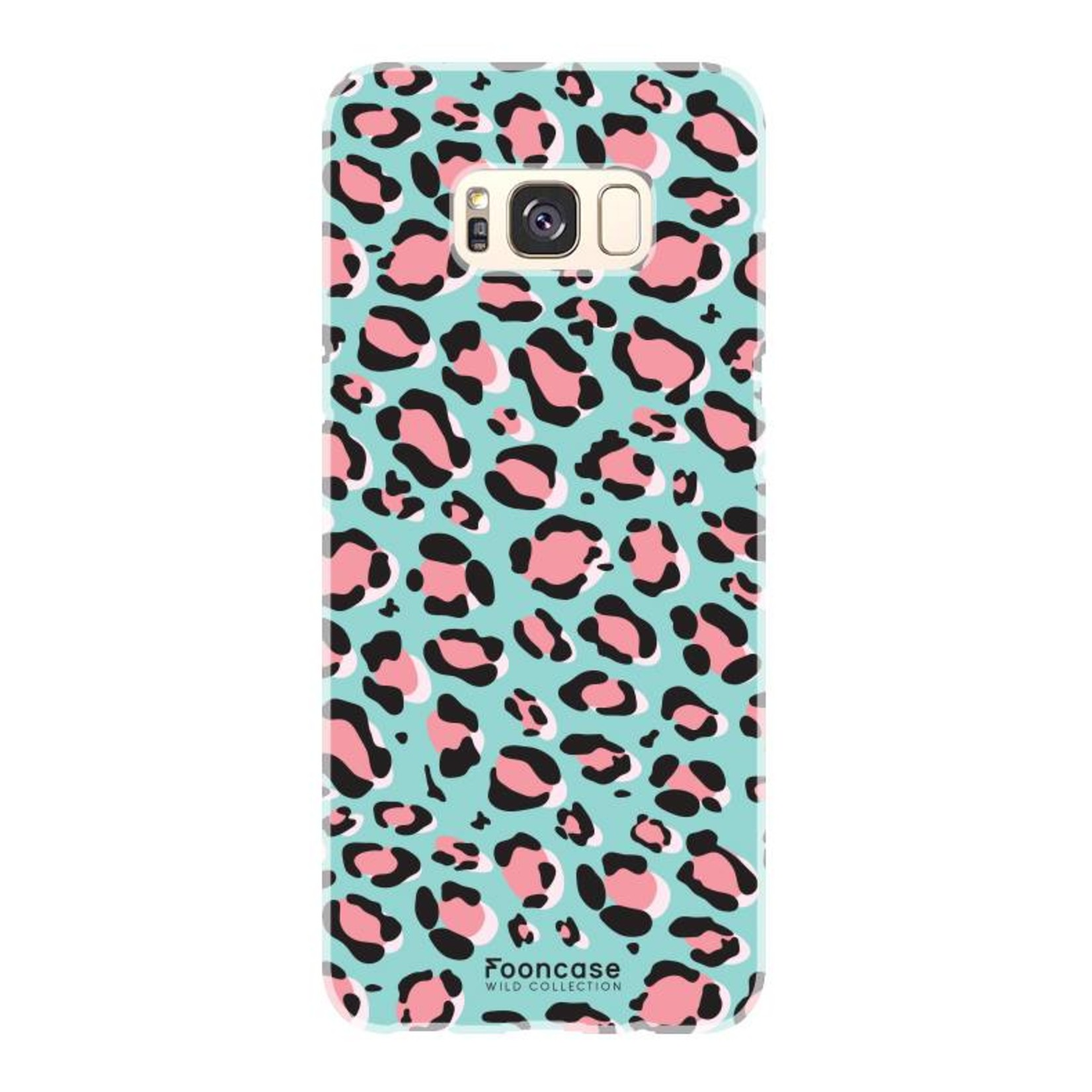 FOONCASE Samsung Galaxy S8 Plus hoesje TPU Soft Case - Back Cover - WILD COLLECTION / Luipaard / Leopard print / Blauw