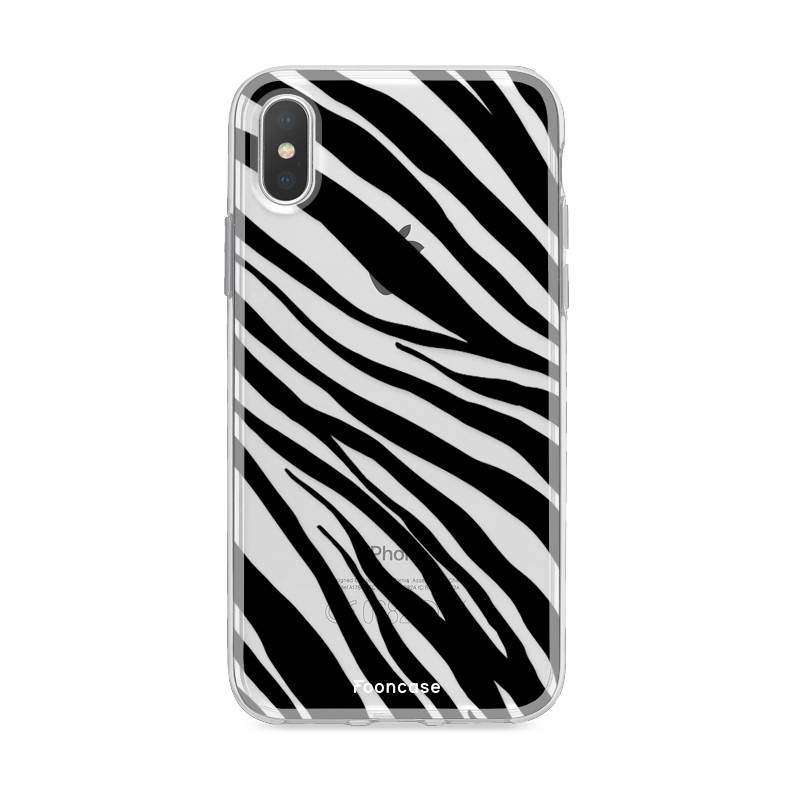 FOONCASE iPhone XS hoesje TPU Soft Case - Back Cover - Zebra print