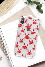 FOONCASE iPhone XS hoesje TPU Soft Case - Back Cover - Crabs / Krabbetjes / Krabben