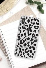 FOONCASE iPhone XS hoesje TPU Soft Case - Back Cover - Luipaard / Leopard print