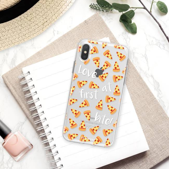 FOONCASE iPhone XS hoesje TPU Soft Case - Back Cover - Pizza / Food