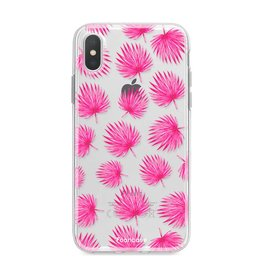 Apple Iphone XS - Pink leaves
