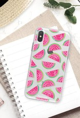FOONCASE iPhone XS hoesje TPU Soft Case - Back Cover - Watermeloen