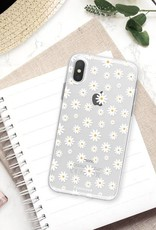 FOONCASE iPhone XS hoesje TPU Soft Case - Back Cover - Madeliefjes