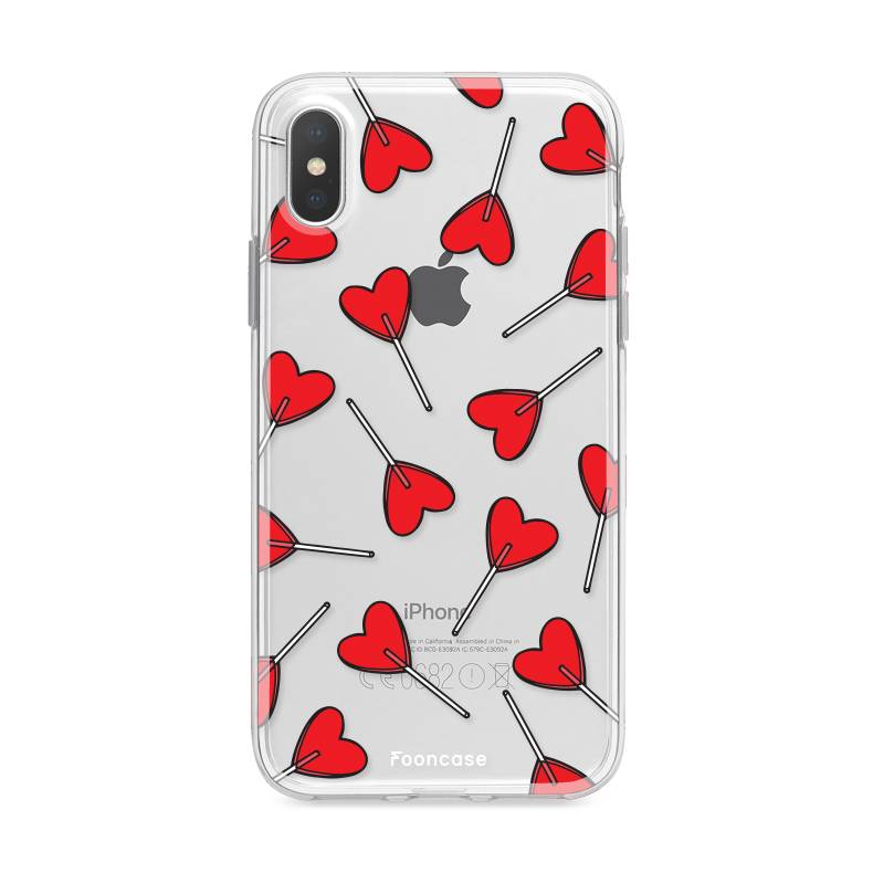 FOONCASE iPhone XS hoesje TPU Soft Case - Back Cover - Love Pop