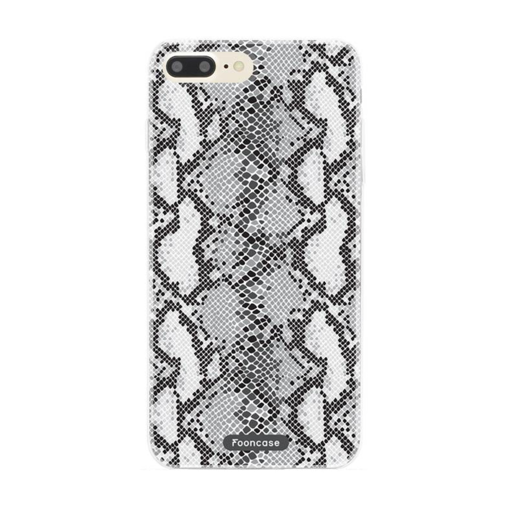 FOONCASE iPhone 8 Plus hoesje TPU Soft Case - Back Cover - Snake it / Slangen print