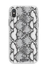 FOONCASE iPhone XS hoesje TPU Soft Case - Back Cover - Snake it / Slangen print