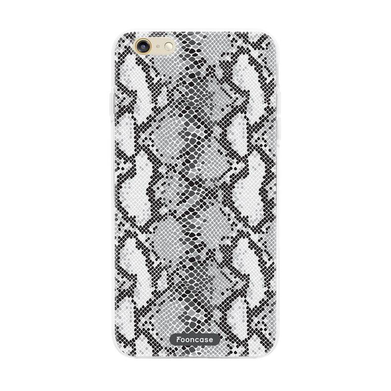 FOONCASE iPhone 6 / 6S hoesje TPU Soft Case - Back Cover - Snake it / Slangen print