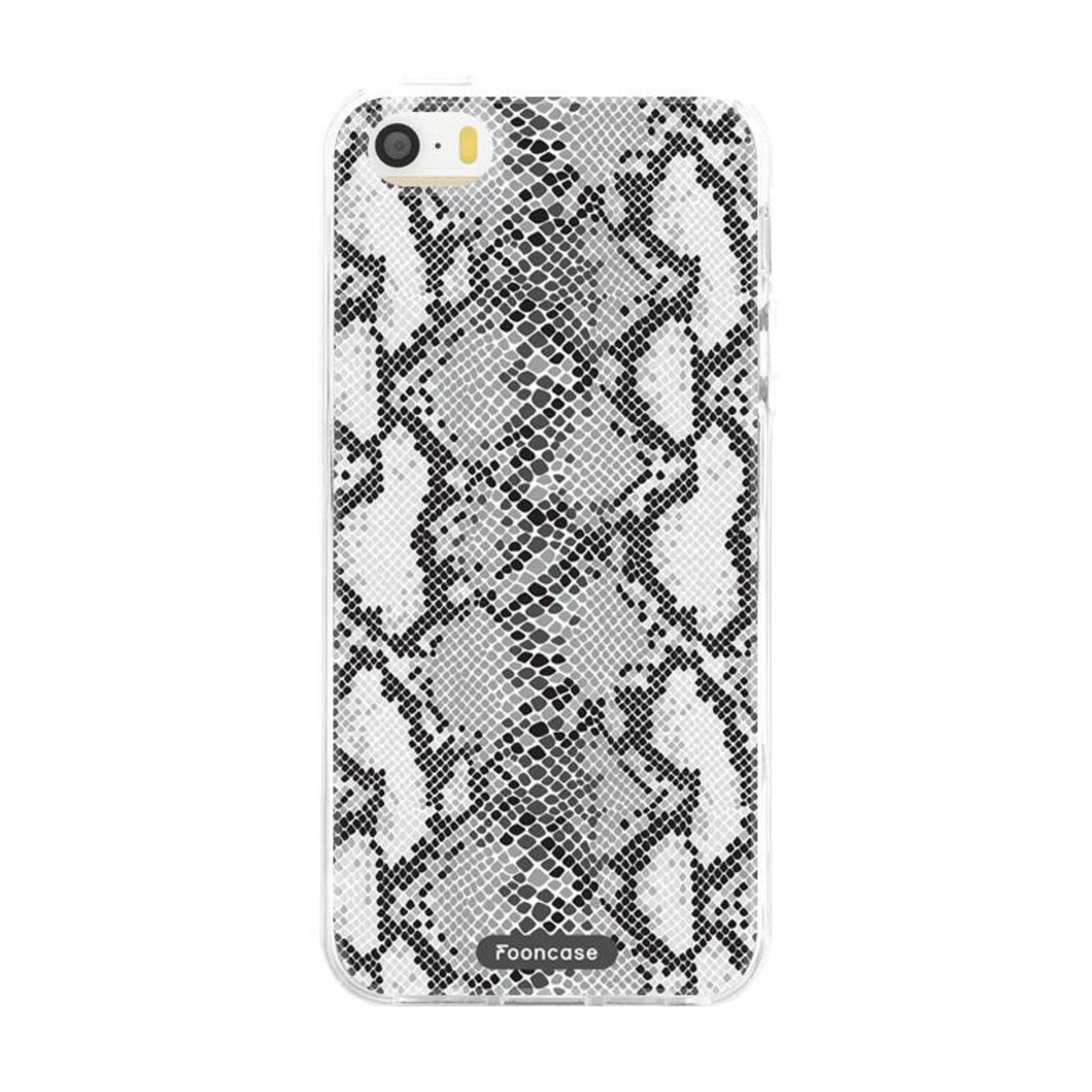 FOONCASE iPhone SE hoesje TPU Soft Case - Back Cover - Snake it / Slangen print
