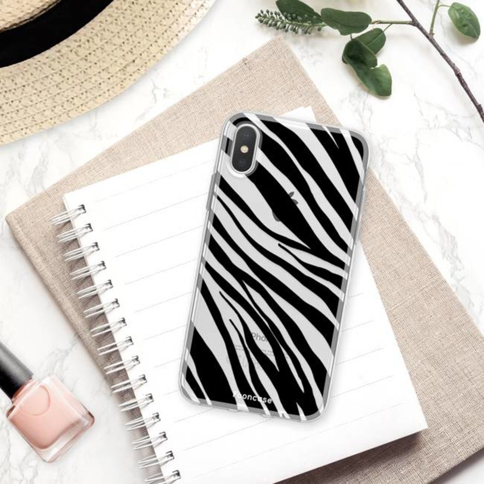 FOONCASE iPhone XS Max hoesje TPU Soft Case - Back Cover - Zebra print