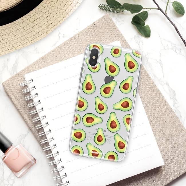 FOONCASE iPhone XS Max hoesje TPU Soft Case - Back Cover - Avocado
