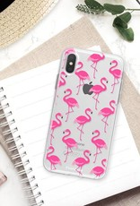 FOONCASE iPhone XS Max hoesje TPU Soft Case - Back Cover - Flamingo