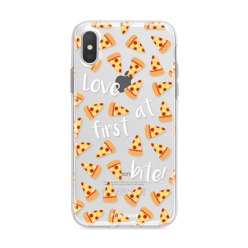 FOONCASE iPhone XS Max hoesje TPU Soft Case - Back Cover - Pizza / Food