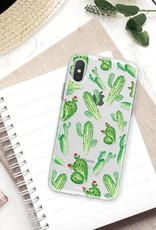 FOONCASE iPhone XS Max hoesje TPU Soft Case - Back Cover - Cactus