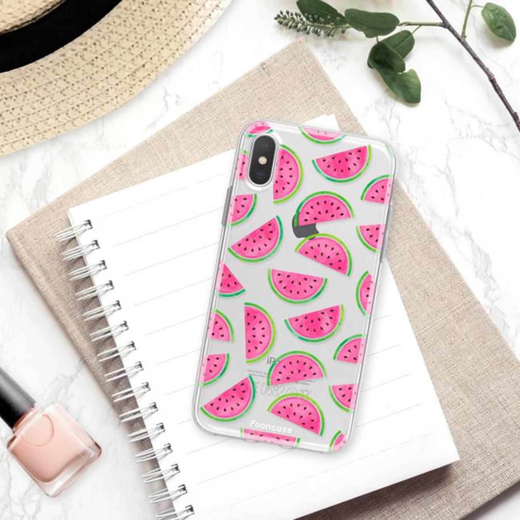 FOONCASE iPhone XS Max hoesje TPU Soft Case - Back Cover - Watermeloen