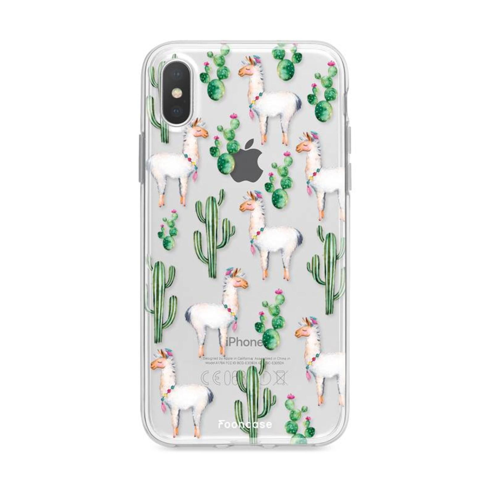FOONCASE iPhone XS Max hoesje TPU Soft Case - Back Cover - Alpaca / Lama