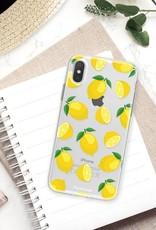 FOONCASE iPhone XS Max hoesje TPU Soft Case - Back Cover - Lemons / Citroen / Citroentjes