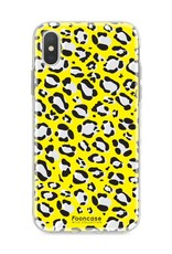 FOONCASE iPhone XS Max hoesje TPU Soft Case - Back Cover - WILD COLLECTION / Luipaard / Leopard print / Geel