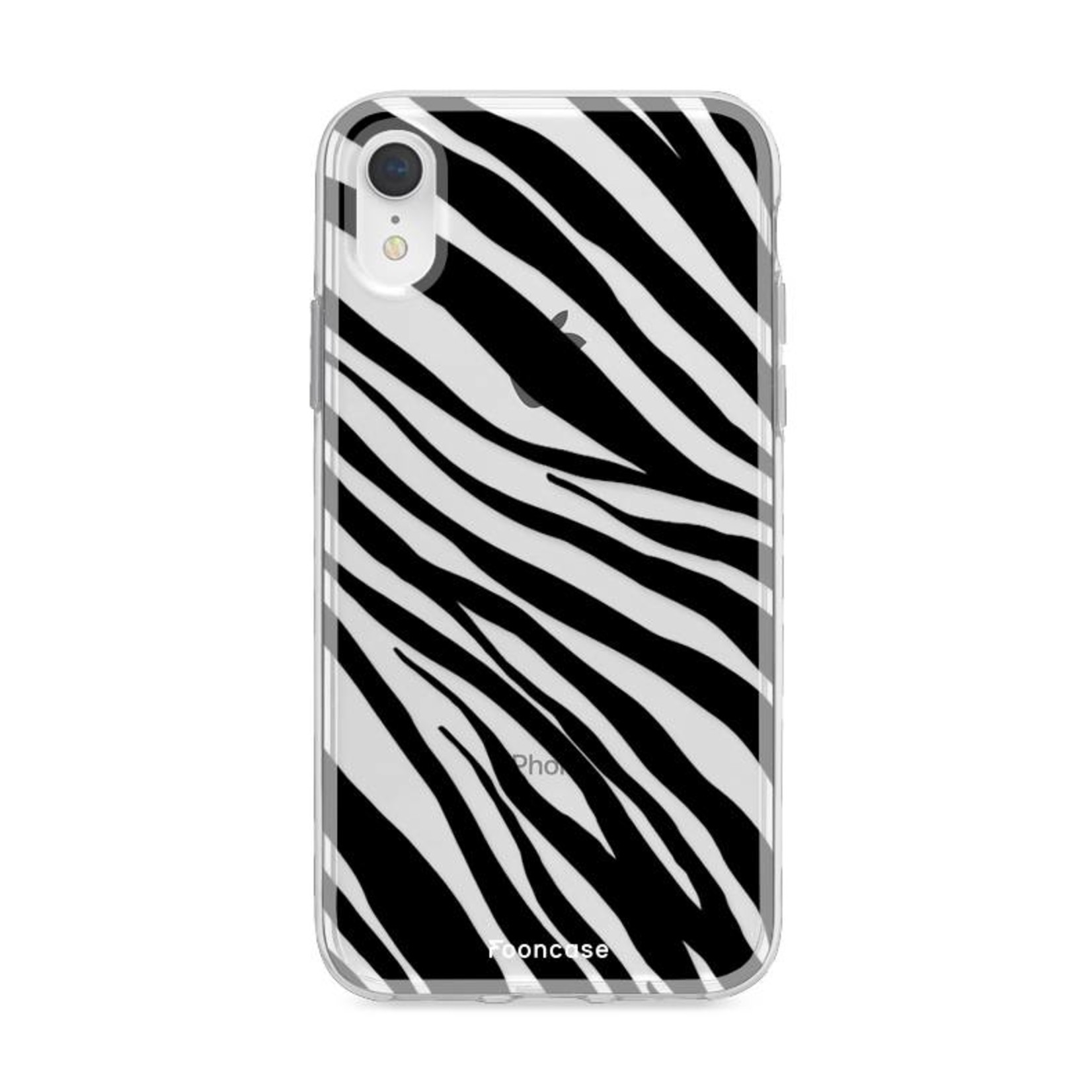 FOONCASE iPhone XR hoesje TPU Soft Case - Back Cover - Zebra print