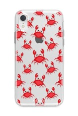 FOONCASE iPhone XR hoesje TPU Soft Case - Back Cover - Crabs / Krabbetjes / Krabben