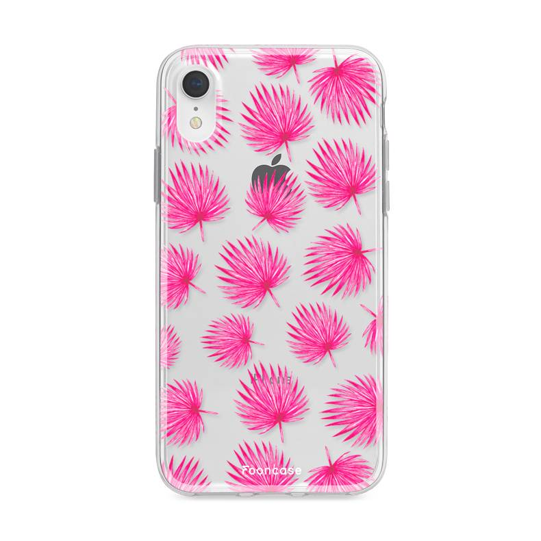 FOONCASE Iphone XR Handyhülle - Rosa Blätter