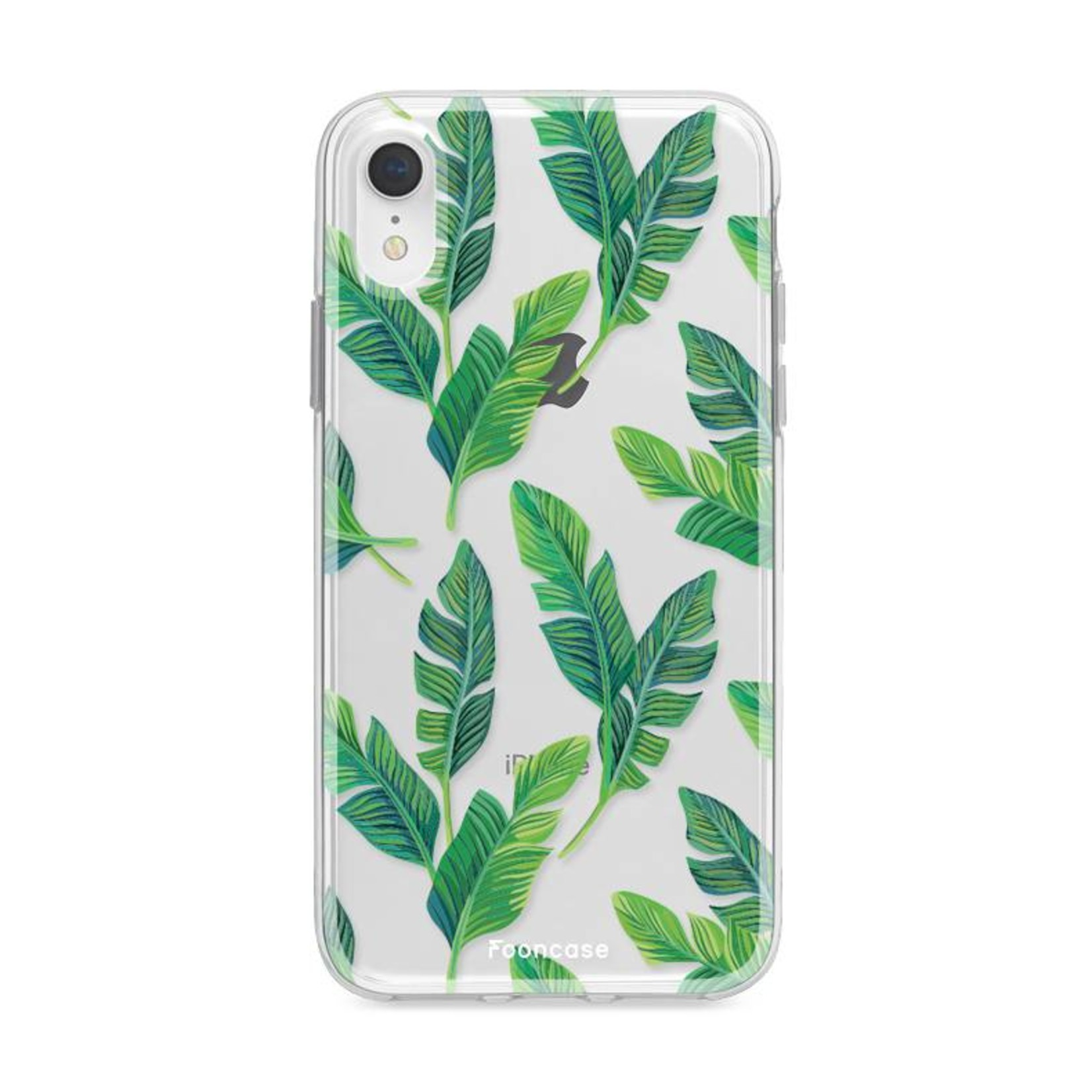 FOONCASE iPhone XR hoesje TPU Soft Case - Back Cover - Banana leaves / Bananen bladeren