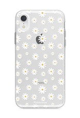 FOONCASE iPhone XR hoesje TPU Soft Case - Back Cover - Madeliefjes