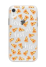 FOONCASE iPhone XR hoesje TPU Soft Case - Back Cover - Pizza / Food