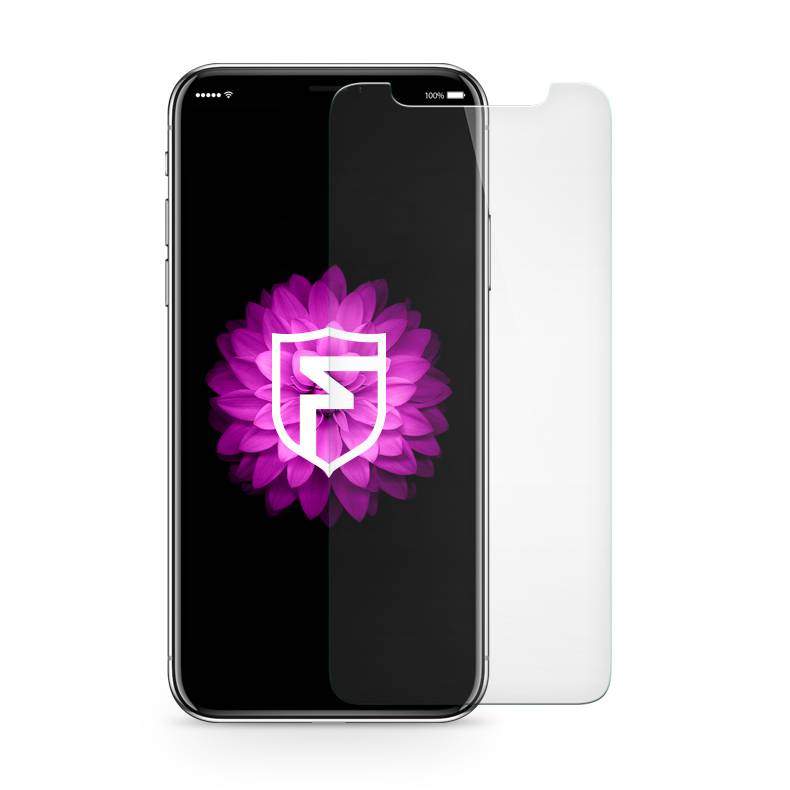 FOONCASE iPhone XS - Screen protector (Tempered glass) + Cleaning kit