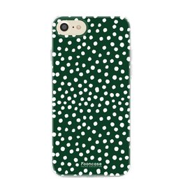 FOONCASE Iphone 7 - POLKA COLLECTION / Donker Groen