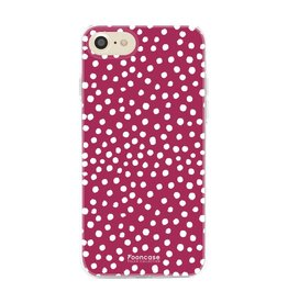 FOONCASE Iphone 8 - POLKA COLLECTION / Bordeaux Rood