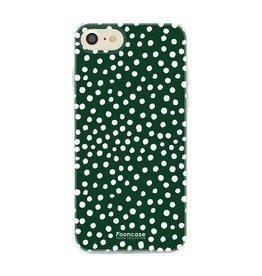 FOONCASE Iphone 8 - POLKA COLLECTION / Donker Groen