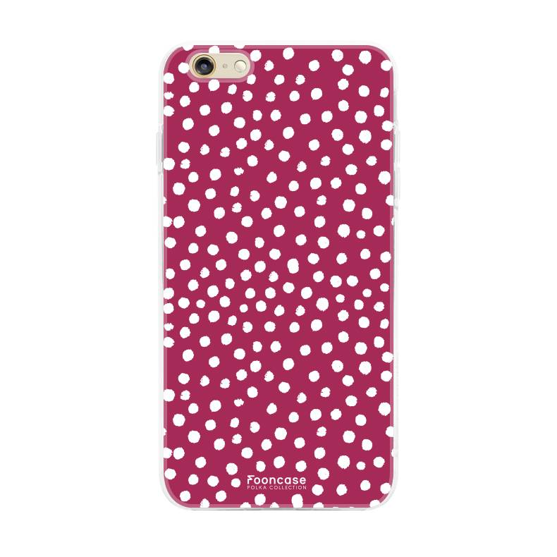 Apple Iphone 6 / 6S - POLKA COLLECTION / Bordeaux Rood