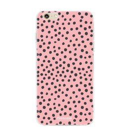 FOONCASE Iphone 6 / 6S - POLKA COLLECTION / Roze