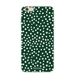 FOONCASE Iphone 6 / 6S - POLKA COLLECTION / Donker Groen