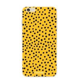 FOONCASE Iphone 6 / 6S - POLKA COLLECTION / Oker Geel