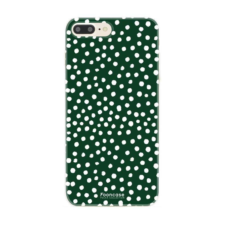 Apple Iphone 7 Plus - POLKA COLLECTION / Donker Groen