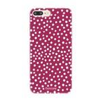 FOONCASE Iphone 8 Plus - POLKA COLLECTION / Bordeaux Red